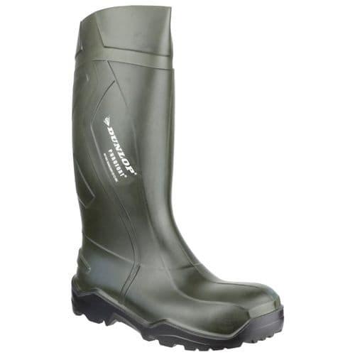 Dunlop Purofort+ Safety Wellingtons Green